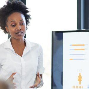 lady giving presentation